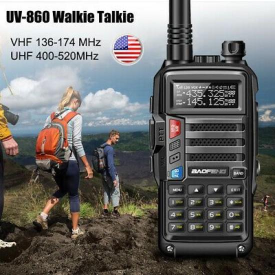 Baofeng UV-860 Φορητός dual band πομποδέκτης VHF/UHF 8W