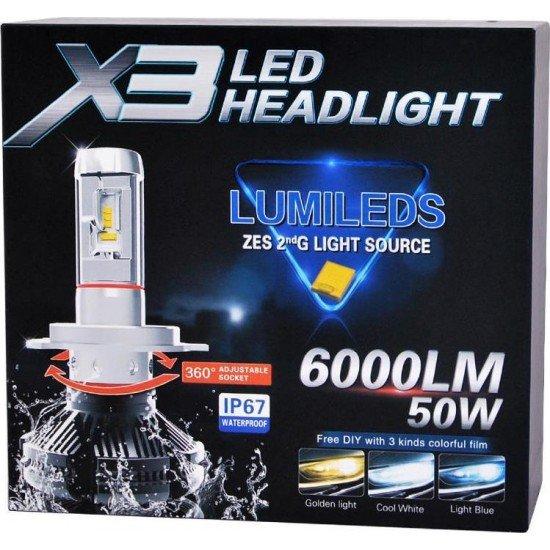 LED AYTOKINHTOY X3 H3 50W