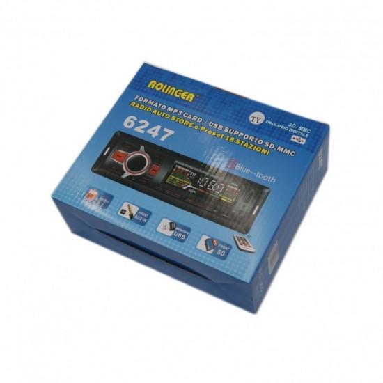 ΗΧΟΣΥΣΤΗΜΑ ΑΥΤΟΚΙΝΗΤΟΥ USB SD BLUETOOTH FM MP3 REMOTE AUX Ράδιο ELEMENT 8T OEM
