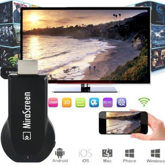 ΑΣΥΡΜΑΤΗ ΣΥΝΔΕΣΗ HDMI ADAPTER ΓΙΑ SMARTPHONES ΜΕ ΤΗΛΕΟΡΑΣΗ MIRASCREEN OTA TV STICK DONGLE