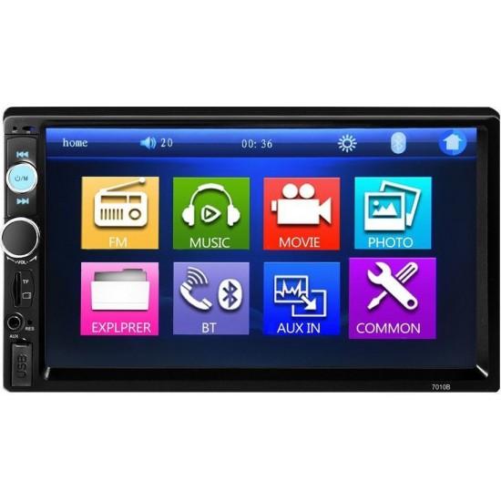 """ΟΘΟΝΗ 2 DIN MULTIMEDIA 7"""" Ίντσες οθόνη αφής αυτοκινήτου (4x60W 2DIN ΕΛΛΗΝΙΚΗ ΓΛΩΣΣΑ, MP3, MP5, USB, Bluetooth, Mirrorlink, 2DIN, Universal)"""