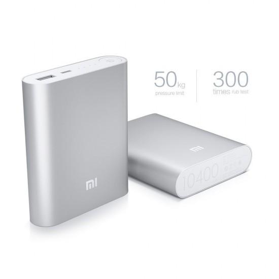 Xiaomi Portable USB Power Bank Charger 10400Mah Silver