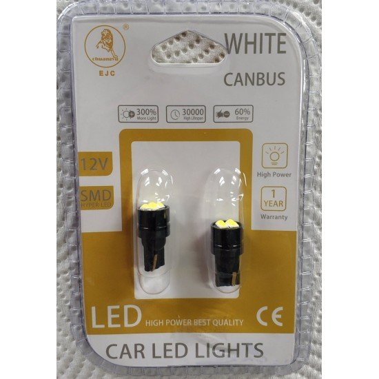 LED T10 can bus w5w  6000k  12V