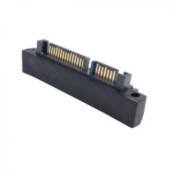 SATA 22 pin αρσενικό έως 22 ακίδων θηλυκός προσαρμογέα αριστερής γωνίας